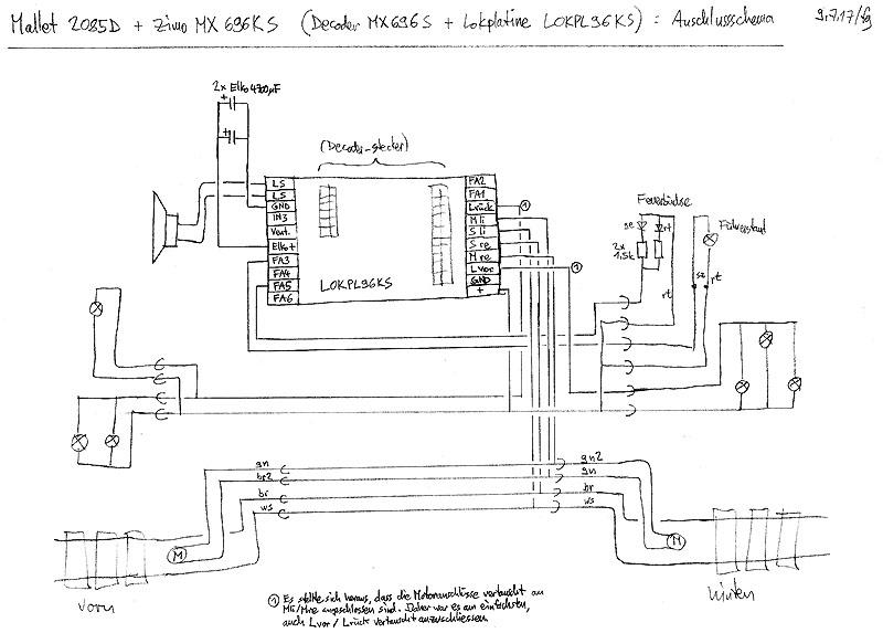 LGB Mallet mit Zimo MX696 ausrüsten - Stummis Modellbahnforum